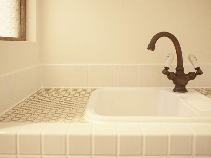 タイル/洗面/注文住宅/インテリア/ジャストの家/tile/natural/design/interior/house/homedecor