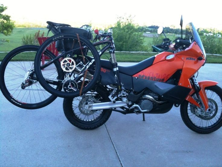 Bicycle Rack Mounted On A Ktm 990 Adventure Art Functional Stylish Multi Purpose Gear
