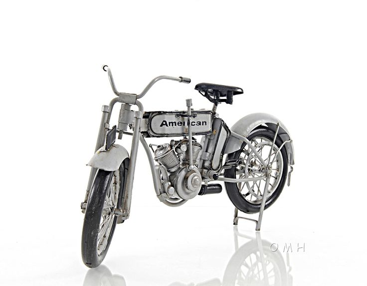 """CaptJimsCargo - Harley-Davidson Model 7D Twin 1911 Motorcycle Metal Model 12.5"""",  (http://www.captjimscargo.com/model-tether-cars-automobiles/harley-davidson-model-7d-twin-1911-motorcycle-metal-model-12-5/) Fully built & assembled and ready for display (not a kit)."""