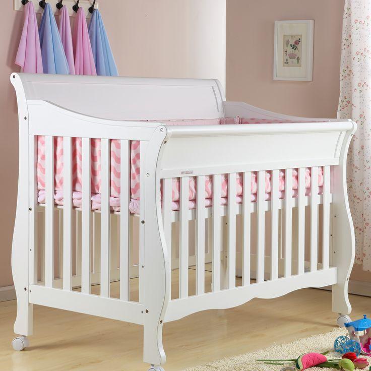Cama cuna de beb de la manera de la pintura respetuoso - Cunas de madera para bebes ...