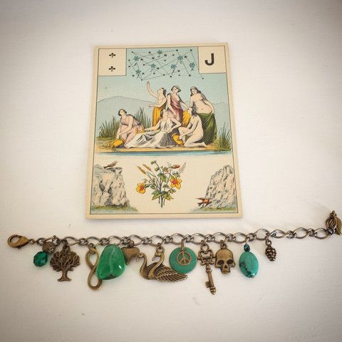 Life Cycles charm bracelet in green, Bird of Prey Jewellery NZ | Bird of Prey - Online Jewellery and Gift Store.
