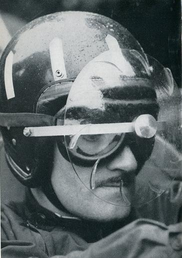 Graham Hill with Turbo Visor / rain helmet  sport helmets:  www.allsporthelmets.com
