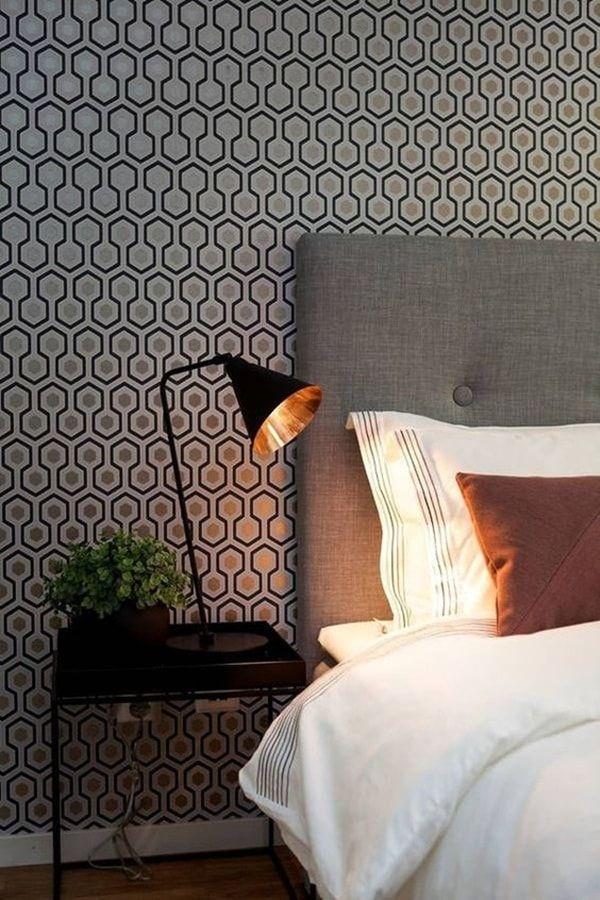Papel pintado como cabecero de cama