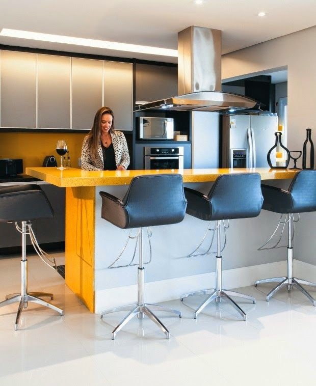 Construindo Minha Casa Clean: Tendência de Cozinhas com Ilha Central e Ilha Americana! Veja Dicas e Ideias!
