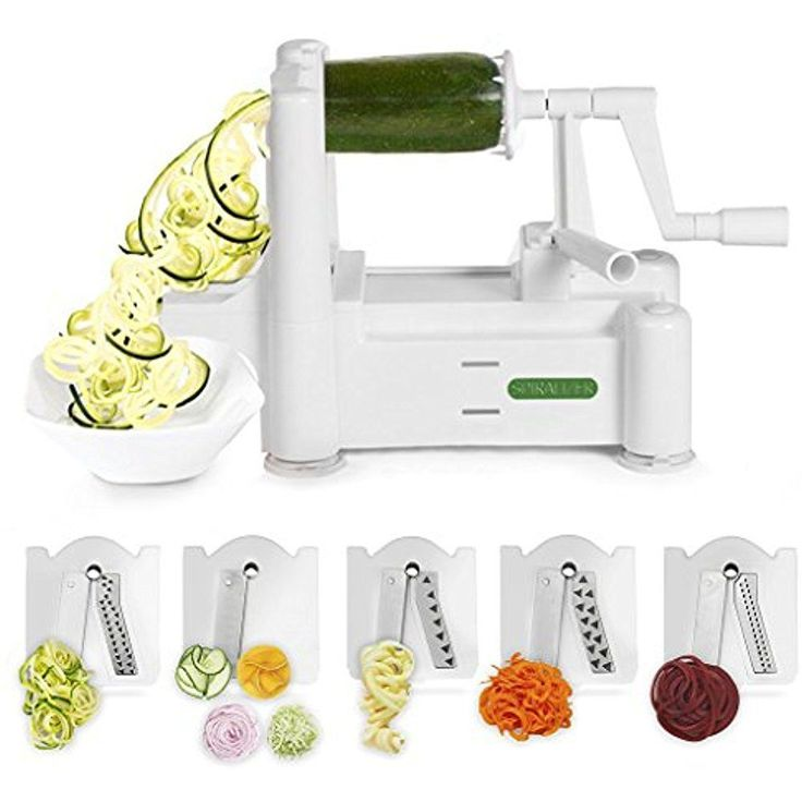 Stainless Steel Vegetable Spiral Slicer Cutter Pasta Spaghetti Maker Kitchen New #Spiralizer