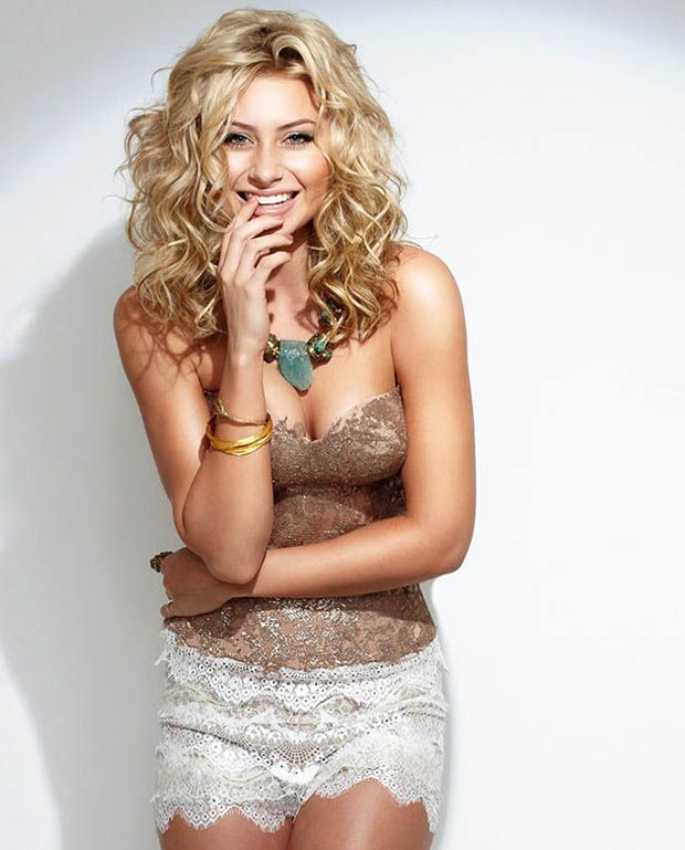 Blonde curls. Aly Michalka
