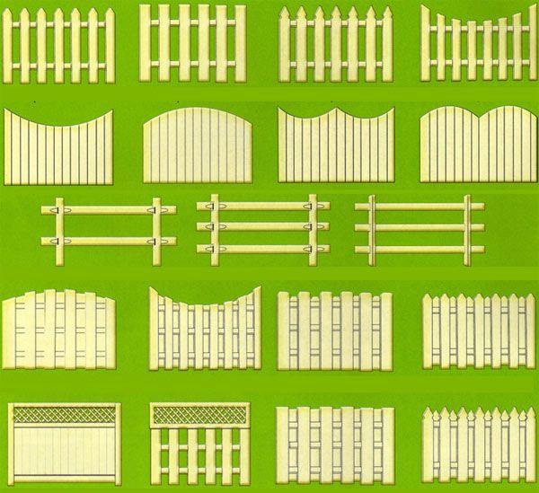Деревянный забор для палисадника фото фото