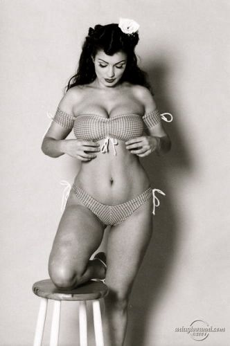 In the 50s, this was perfection....back when being a woman meant having curves, not looking like 14 yr old boys (no hips, flat everything) lol