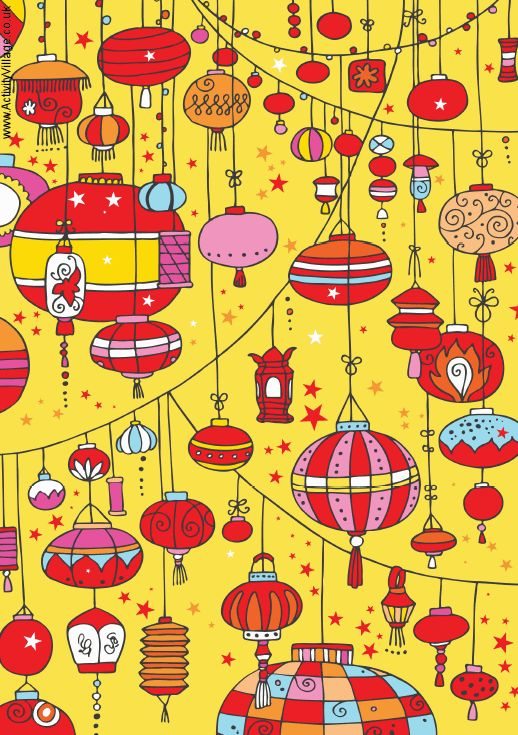 Chinese New Year scrapbook paper