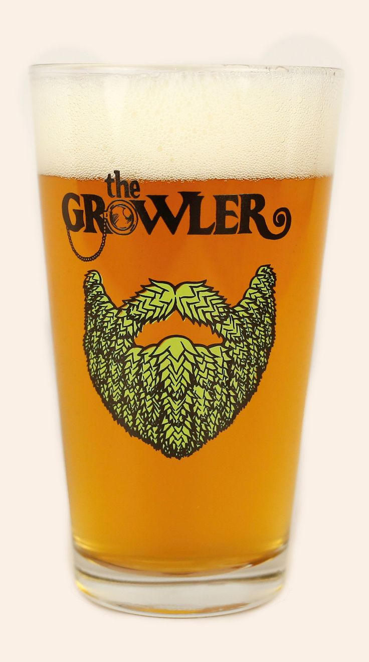 Growler Beard Pint Glass