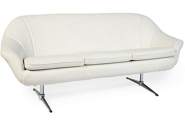 1970s+Overman+Leather+Sofa: Leather Sofa