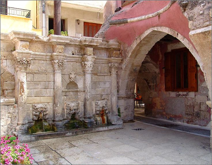 An old Venetian fountain at the old town of Rethymno!
