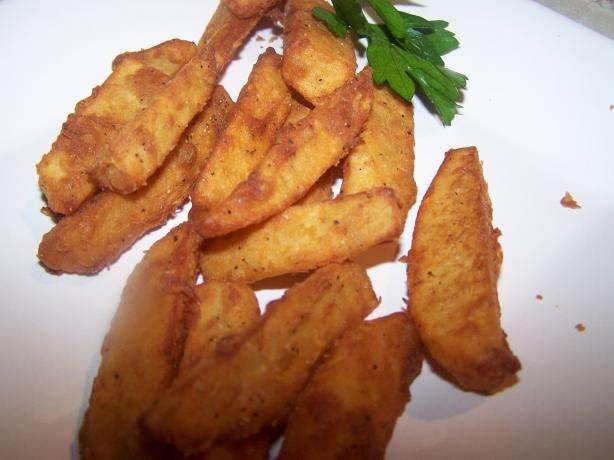 Paula Deen s Batter-Dipped French Fries... see reviews and adjust accordingly  From the Paula Deen's Party show.  Saw Paula make these and they looked so good. Wanted to share the recipe with everyone. Enjoy!