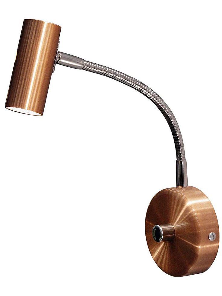 Kopparfärgad dimbar ledlampa - sänglampa - Belid 586213