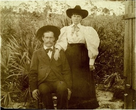Laura Ingalls Wilder and Almanzo in Florida.