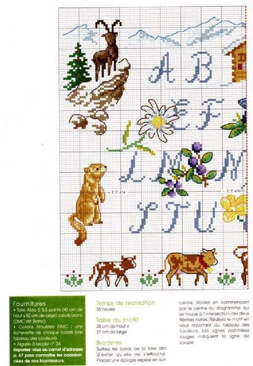 ABC cross stitch pattern
