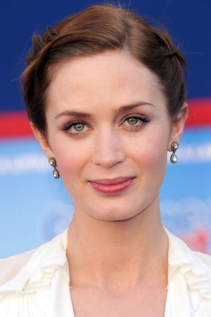Emily Blunt Braided Bun - We're totally in love with Emily Blunt's French braided bun!