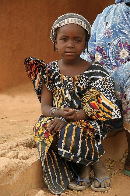Africa |  Hausa girl in a village in northern Nigeria | © Gianluca di Santo