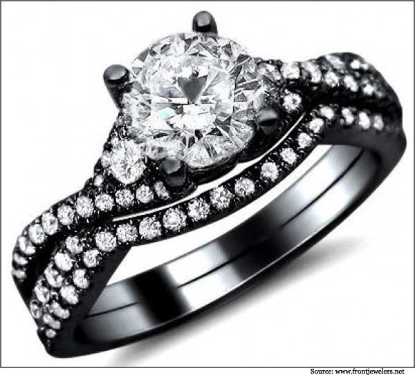 WOW | Wedding If I Ever Get Married | Pinterest | Black Gold Engagement  Rings, Gold Engageu2026