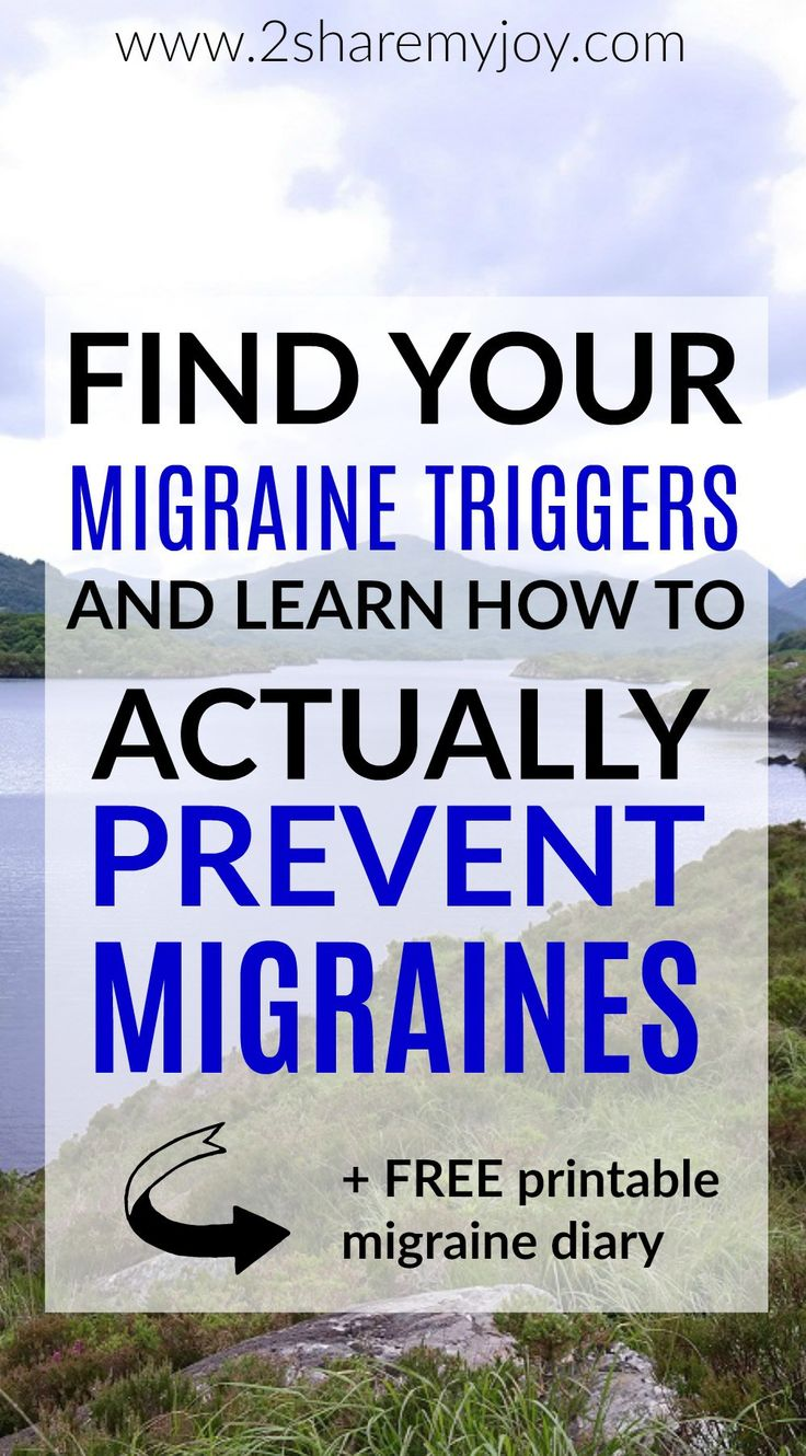 10 ways to prevent migraines and keep them away. How to prevent migraines without medication. Most common migraine triggers plus free printable migraine diary.