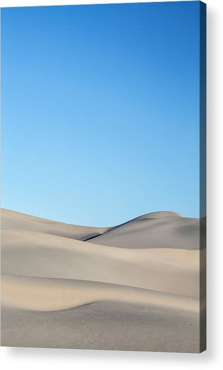 Desert Calm Acrylic Print by Jon Glaser.  All acrylic prints are professionally printed, packaged, and shipped within 3 - 4 business days and delivered ready-to-hang on your wall. Choose from multiple sizes and mounting options.