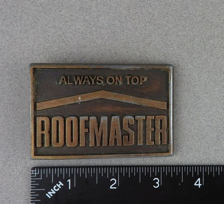 "Roofmaster Always on Top  3"" by 2"" Belt Buckle"