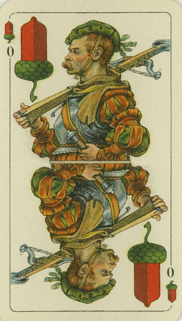 Card Deck With Guidebook By: German Skat Deck, Early 1900's.