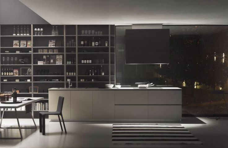 MH6 kitchen project, design by Modulnova, made in Italy.