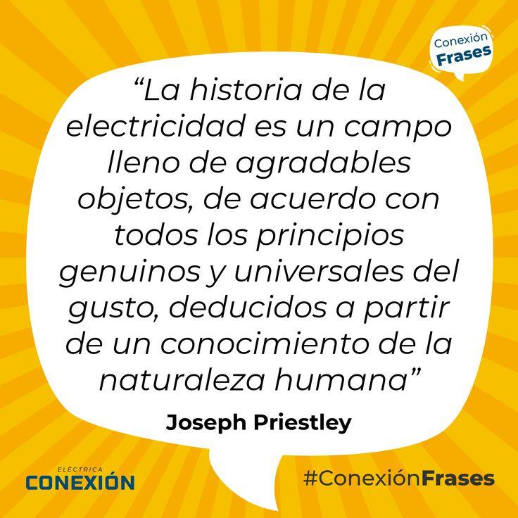 """#FelizLunes La frase de hoy es: """"La historia de la electricidad es un campo ll…"""
