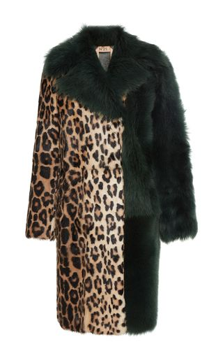 Zorela Leopard Fur Coat by NO. 21 for Preorder on Moda Operandi