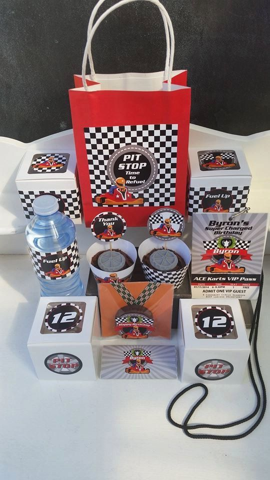 #Go-Kart #Birthday Party Printables - Personalized - #Go-Kart #Theme - Printbale P,  View more on the LINK: http://www.zeppy.io/product/gb/3/220373843/