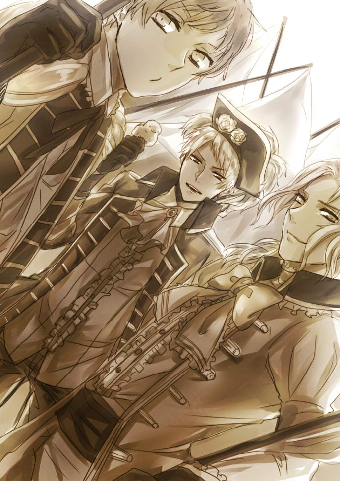 Tags: Anime, Axis Powers: Hetalia, France, Prussia, Spain