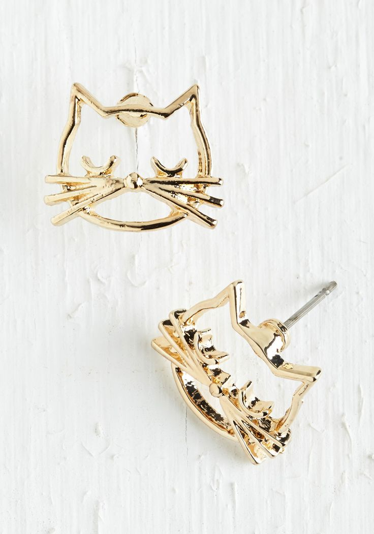 Kitty earrings - so sweet check them out: <a href=