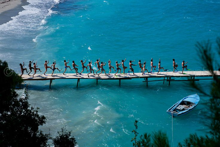 "~ Shooting the movie ""Mamma Mia!"" in the beautiful island of Skopelos, Greece ~"