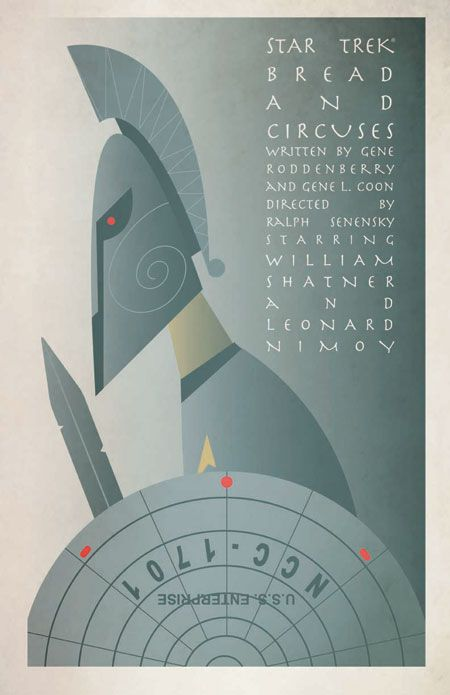 Episode : Bread and Circuses - Original Star Trek Series Poster by artist Juan Ortiz