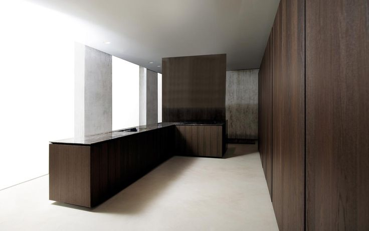 Minimalistic warm kitchen
