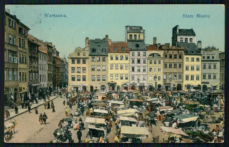 Pocztówka: Warszawa, Stare Miasto, Wydawnictwo K. Wojutyńskiego (1912)