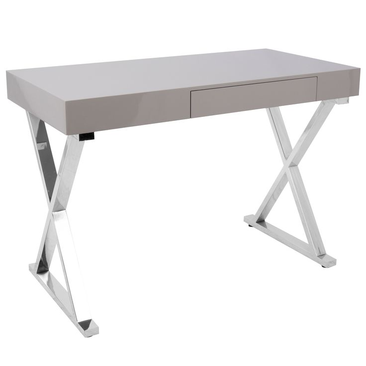 lumisource luster modern home office desk grey