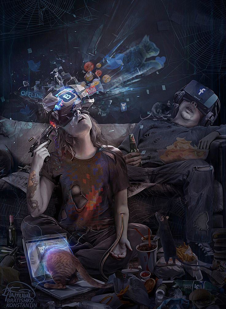 "rhubarbes: "" CYBER suicide by KonstantinBratishko More concept art here. """