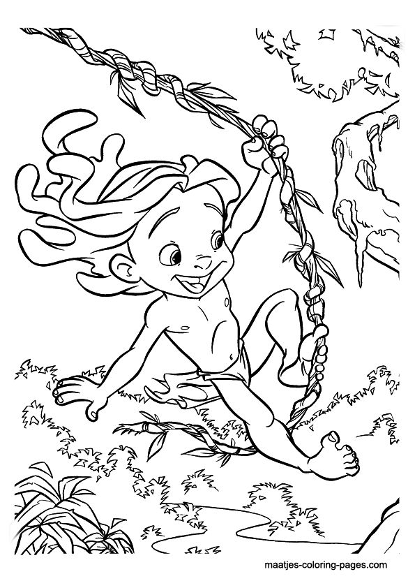 Tarzan Disney Coloring Page Source Maatjes Pages
