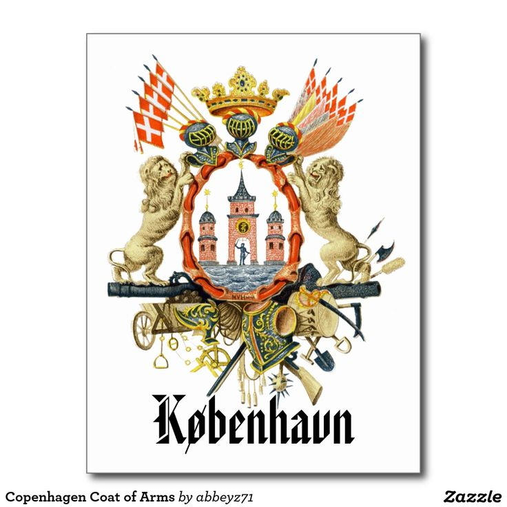 Copenhagen Coat of Arms Postcard