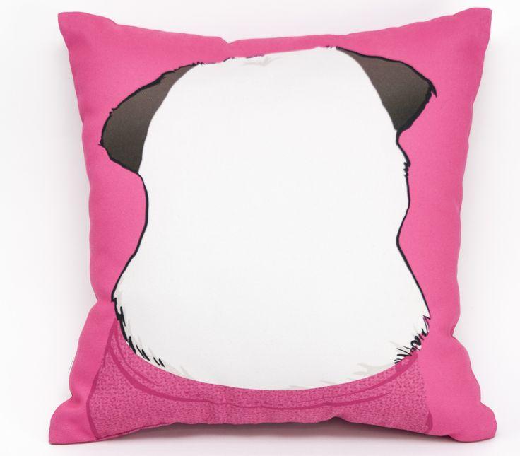 Mops różówy poduszka, tył; Projektant: Twórczywo; Wartość: 90 zł; Poczucie dobrego smaku: bezcenne. Powyższy materiał nie stanowi oferty handlowej
