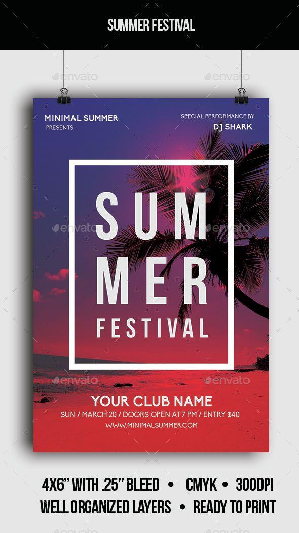 Summer Festival - Flyer Template PSD. Download here: http://graphicriver.net/item/summer-festival-flyer/14862472?ref=ksioks