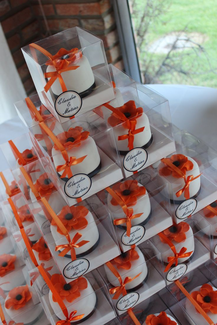 Minicakes Souvenirs Orange Flower  Violeta Glace