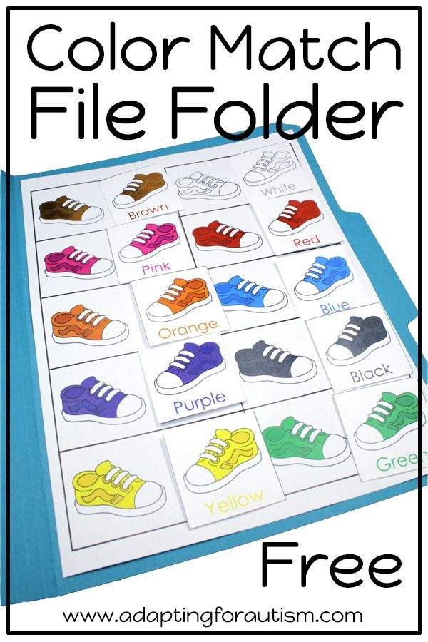 This free file folder activity pack is full of basic