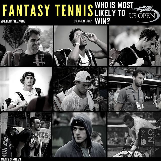 We had some predictions of our own (link in bio), but what do you guys think? What can we expect? Can we expect anything? 🤔⠀ #fantasytennis #usopen #nadal #federer #zverev #thiem #tsonga #shapovalov #cilic #raonic #kyrgios #delpotro #murray #etennisleague #etennisleaguenation #tennis #tennisodds #tennispredictions #rafaelnadal #tennisplayers #tennistournament