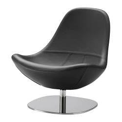 TIRUP Pyörivä lepotuoli - Kavat musta - IKEA