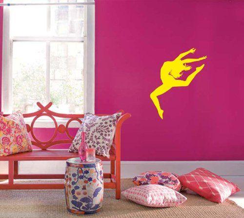 wall vinyl sticker decal art design dancing girl dance studio school room nice picture decor hall