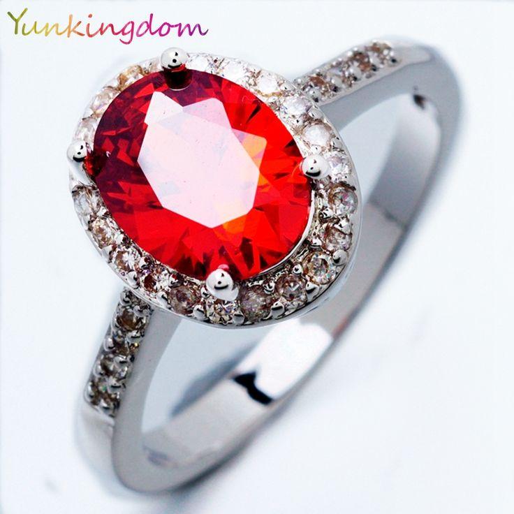 Yunkingdom Fashion weeding rings female oval design party rings
