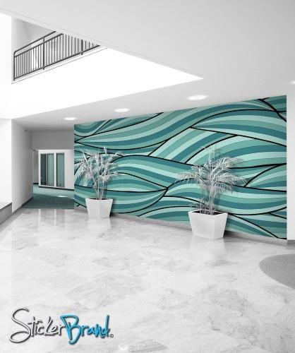 Wall Mural Decal Sticker Arco Ocean Green Color MCrespo118
